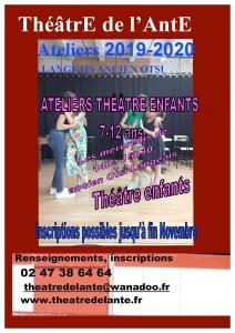 ThéâtrE de l'AntE affiche atelier original enfants 2019